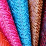 2017最新の編まれたパターンファブリックPU総合的な袋の革