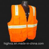 Gilet élevé de sûreté de visibilité avec ANSI07 (C1004)