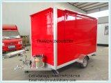 2017赤いカラーセリウムの証明書が付いている移動式食糧トレーラー