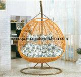 Mobília de exterior de luxo Double Seat Swing Rattan Egg Chair Sala de estar Double Swing (D151)