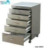 Acero inoxidable movible Guardar y duradero Clínica Dental Gabinete (GD010)