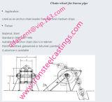Rueda de cadena de ancla del acero de molde de GS-45/GS-52 /GS-60