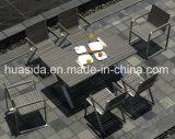 طاولة مبلمر خشبيّة مع 6 كرسي تثبيت لأنّ يتعشّى في الخارج
