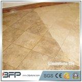 Piedra caliza amarillenta barata 10 azulejos de la piedra caliza de las aplicaciones para la decoración interior