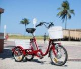 3 عجلة كهربائيّة شحن درّاجة, درّاجة ثلاثية كهربائيّة مع مقصورة لأنّ بالغ