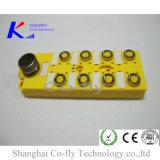 Um-Codificação 8ports para o cabo M12 moldado terminação com a caixa de junção da avaliação IP67
