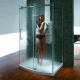 Doublure de douche de design populaire avec panneau de porte coulissante simple avant