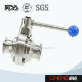 Válvula de esfera sanitária da maneira do manual três do aço inoxidável (JN-BLV1001)