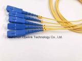 Splitter PLC пластичной коробки радиосвязи 1X4 Gpon для Pon/FTTH/CATV
