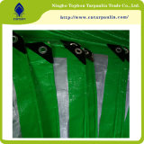 Bâche de protection de HDPE, matériau de tente, poly couvertures en plastique extérieures imperméables à l'eau, poly bâche de protection verte,