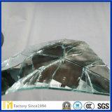 espejo de la plata de la seguridad del vidrio de flotador del claro de 3m m 4m m 5m m 6m m con la película del blanco del forro