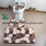 산호 양털 발닦는 매트 세트, 3PCS 목욕탕 양탄자, 목욕탕 매트는 도매로 놓는다