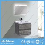 Vanidad montada en la pared Finished del cuarto de baño de la alta melamina del lustre con la lámpara del LED