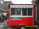 Тележки торгового автомата мороженного улицы