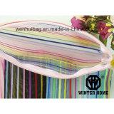 La couleur d'arc-en-ciel barre le sac transparent de produit de beauté de sac de PVC