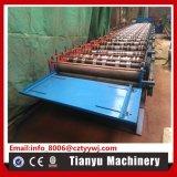 La plaque en acier de tuile de paquet d'étage en métal de toit laminent à froid former la machine