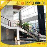 6063 ألومنيوم بثق درابزين قطاع جانبيّ لأنّ شرفة أو درجات