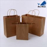 La noce Brown de cadeau de papier d'emballage met en sac le sac à provisions