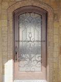 Puerta delantera labrada de cobre comercial de la seguridad del metal de las puertas de entrada