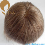 Medium Blond Color Hair System Toupee pour hommes