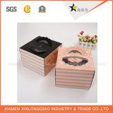 Casella di stampa della torta del pacchetto del documento di caso stampata regalo di legno di natale