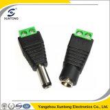 2.5mm männlicher u. weiblicher Gleichstrom-Adapter CCTVvideobalun-Terminal-Verbinder