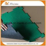 Couvre-tapis en caoutchouc de puzzle antichoc parquetant pour le secteur lourd de gymnastique