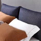 침실 사용 (FB3076)를 위한 까만 색깔 직물 연약한 침대