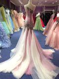 Один образец платья вечера Mermaid 2017 плеча реальный