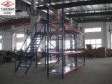 Estante resistente de la paleta del metal del almacenaje industrial de acero del almacén con la escalera