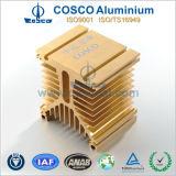 Claro anodizado de aluminio del disipador de calor del motor