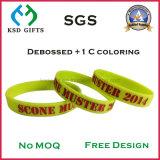 Debossed con il braccialetto/Wristband molli del silicone di Colorfill dello smalto