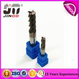 D10.0mmx25mmx75mm 4flutes CNC 맷돌로 갈기를 위한 편평한 100%Solid 탄화물 끝 선반