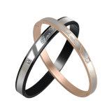 本当カップルのための愛によって個人化されるブレスレットの普及したステンレス鋼の腕輪