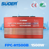 Сила волны Inverte синуса Suoer 1500W 24V 230V толковейшая чисто (FPC-H1500B)