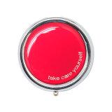 Portable colorido elegante redondo de la promoción un rectángulo de la píldora del metal del día
