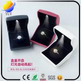 Alto grado LED Caja de joyería anillo luminoso Creative Box pendientes del collar