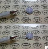 Etiqueta autoadesiva redonda pequena e etiqueta colorida