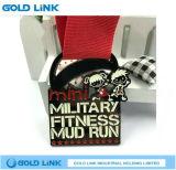 Medalhão Running da concessão da estação de acabamento da medalha feita sob encomenda da maratona dos ofícios do metal