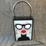Moda Ladies Handbags Circular Ring Hand Man Bolsas de bolsa de embreagem Sy7889