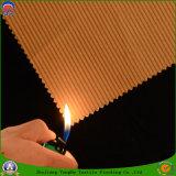 Polyester tissé par textile à la maison enduisant le tissu imperméable à l'eau de rideau en arrêt total de franc pour le guichet