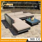 Modernes Wohnzimmer-Innenmöbel-Rattan-Ecken-Sofa-Set