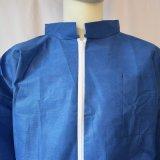 使い捨て可能な濃紺SMSのNon-Wovenつなぎ服、安全つなぎ服、使い捨て可能なつなぎ服