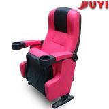 Ponta comercial da mobília da tampa do couro do preço razoável de Juyi Companhia acima da cadeira de dobradura acolchoada plástica do suporte de copo do braço