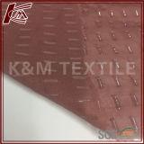 Tissu de coton en soie gravé en relief par matériau de tissu avec de l'or tourné