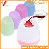 Nahrungsmittelgrad-heißer Verkaufs-faltbares Silikon-/Gummiwein-Cup (XY-SC-002)