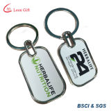 Custom Promotional Printed Logo Bottle Shape Keyring