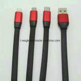 2017 nuovo modello 3 in 1 caricatore del USB e cavo di dati per Iphohne, Samsung, tipo telefono mobile di C