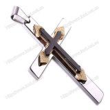 Крест нержавеющей стали серебряный привесной, шкентель сбор винограда готский перекрестный (IO-st00F)