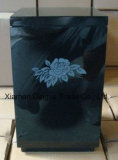 Black Granite Cemetery Stone Flower Vase